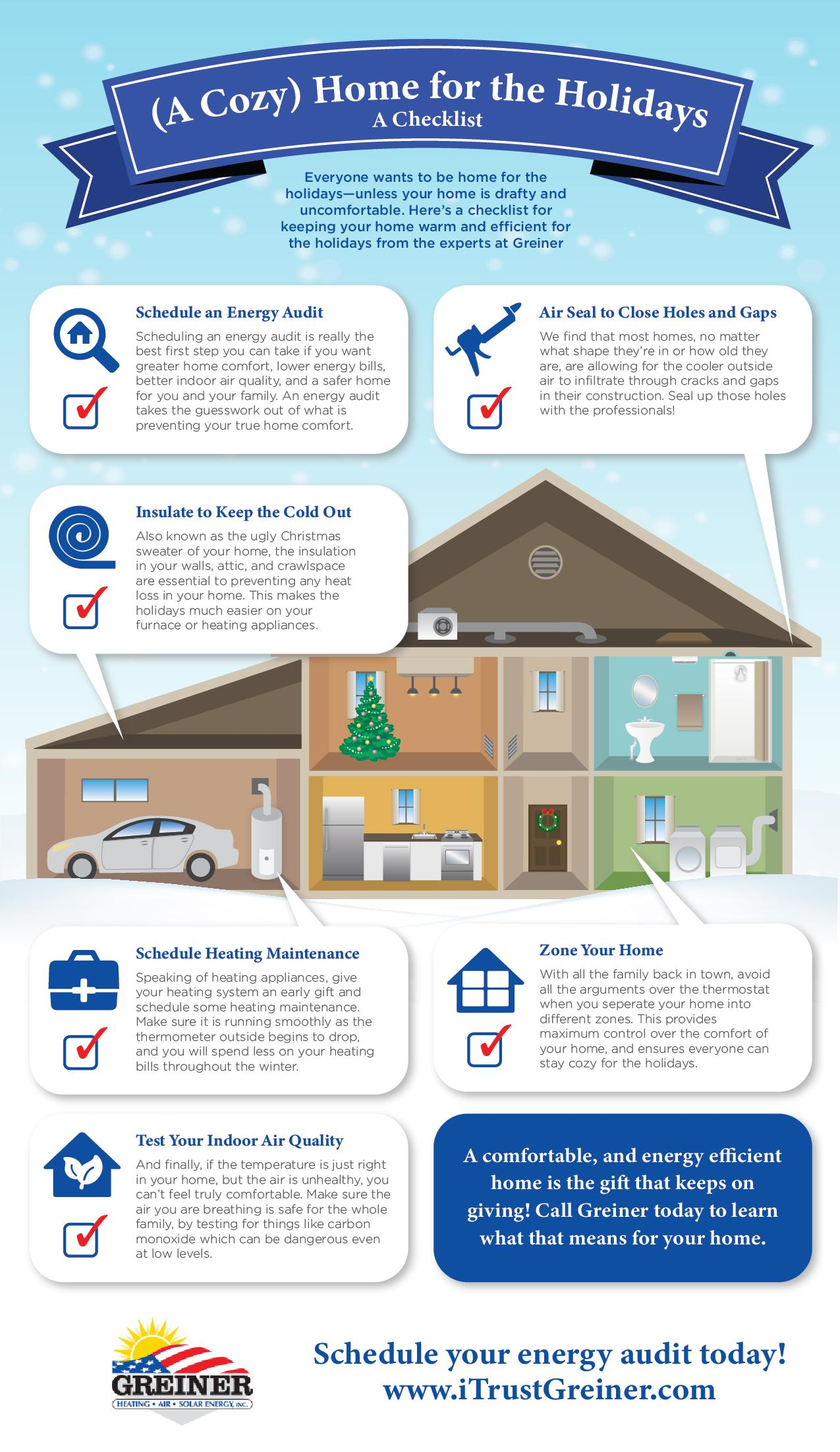 cozy home for the holidays infographic greiner hvac