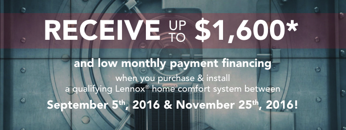 Get up to $1600 off a new HVAC system from Lennox through Greiner in southern california