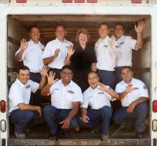 Greiner Heating & Air Conditioning install crew