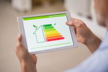 energy audit of home on tablet