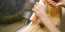 caulking around windows is a good way to seal your home's envelope