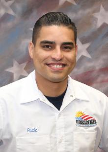 Greiner Heating and Air Conditioning Employee, Pablo G.