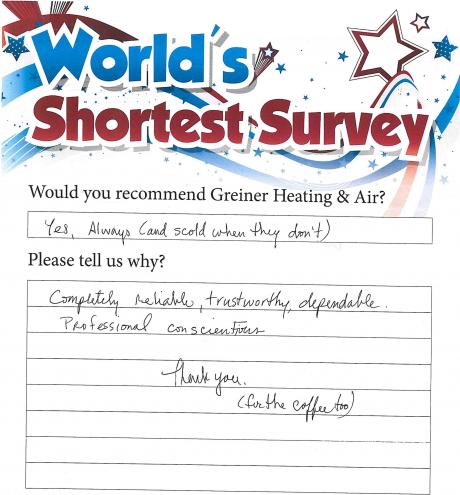 customer testimonial greiner irving