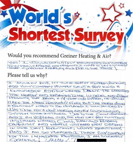 world's shortest survey