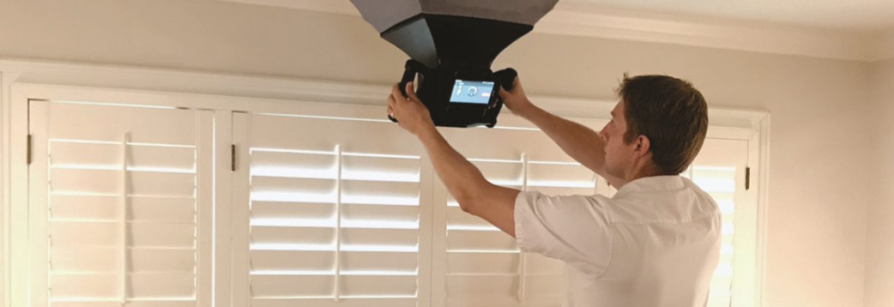 BPI certified Greiner technician inspects ductwork