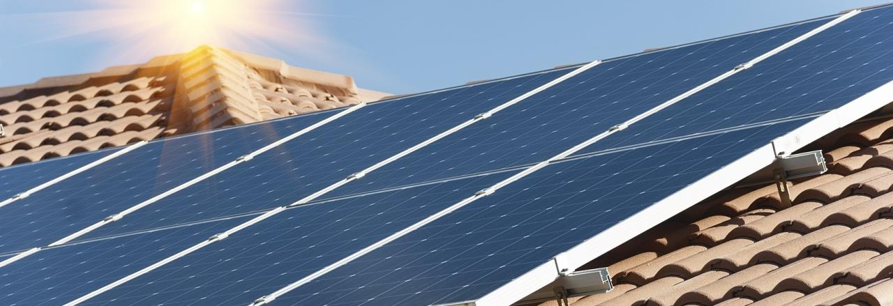 Solar panels on California Style roof