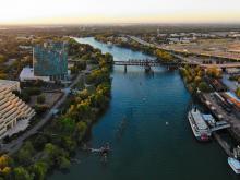 West Sacramento, CA aerial panorama