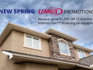 Greiner Heating & Air Conditioning, House with sky Lennox spring promotion, CA
