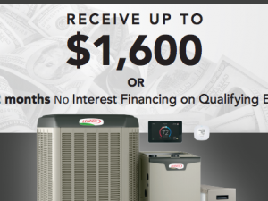 Lennox Fall Promotion: Receive Up To $1,600 or Up to 72 months No Interest Financing on Qualifying Equipment