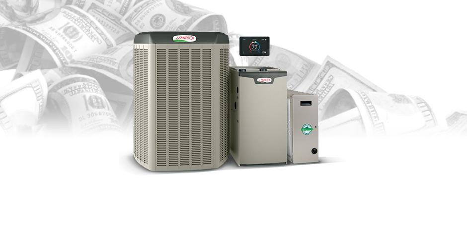 Lennox heat pump units, Greiner Heating and Air, CA