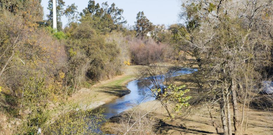 Putah creek located in Winters, California. Service area of Greiner heating and air conditioning