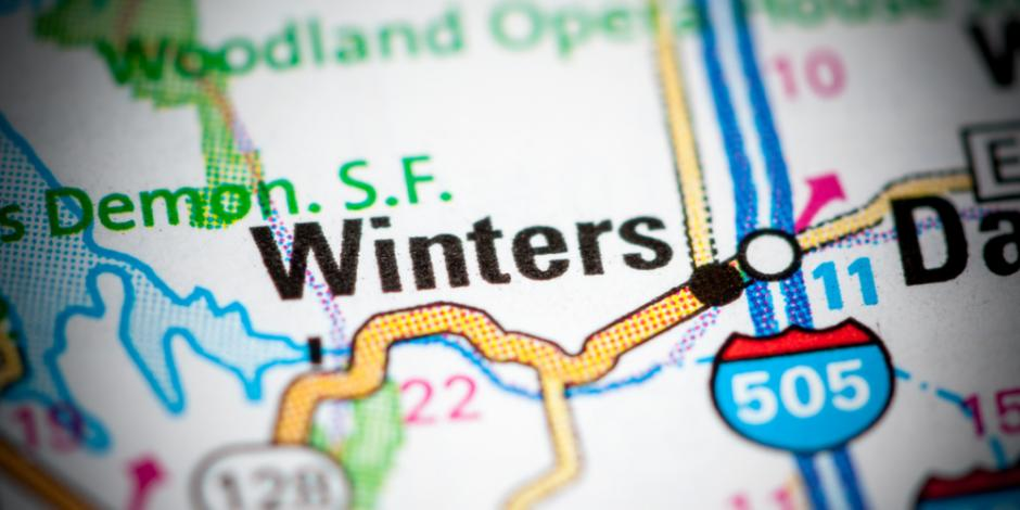 winters california map