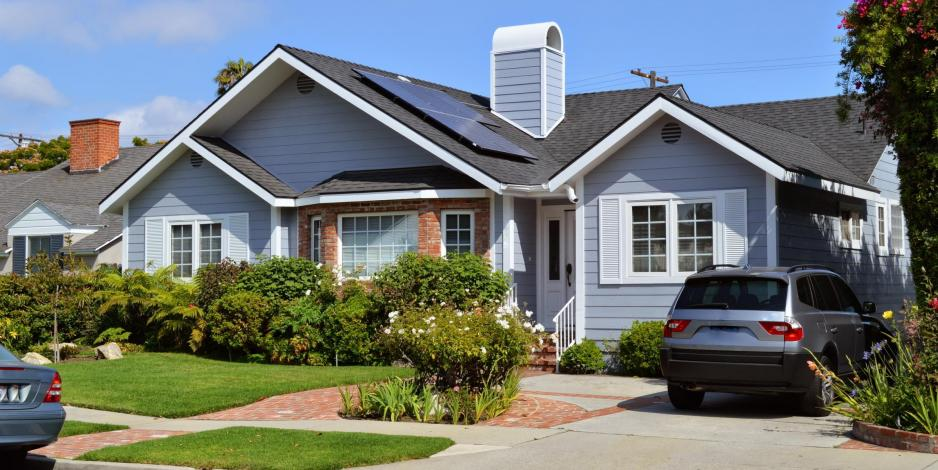 solar installed on roof of california house