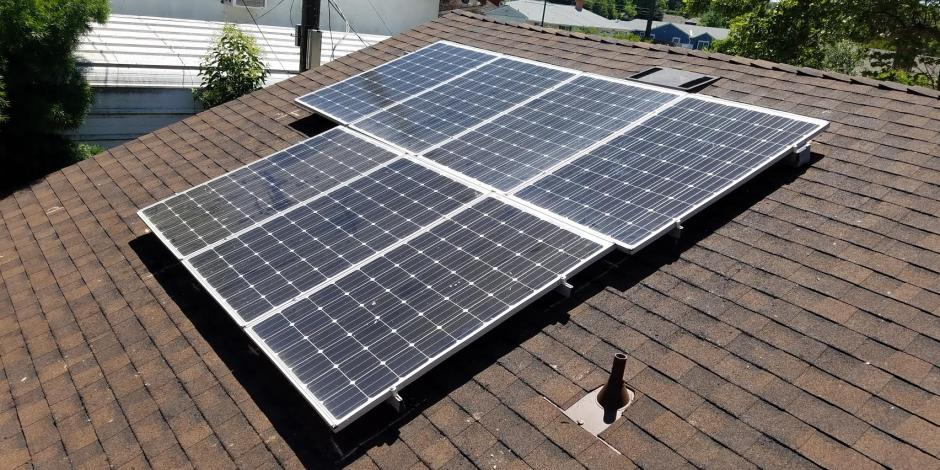 solar panels in the woodlands